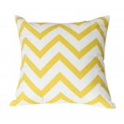 Almohada Cubierta 360DSC Zig Onda Rayas Tela De Algodón De Forma Cuadrada Decorativo Almohada Pillowslip De 43 * 43 Cm - Amarillo