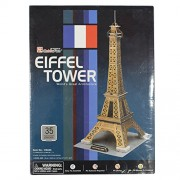 Asian Hobby Crafts 3D Puzzle World's Greatest Architecture Series - Eiffel Tower (23cmx21cmx47cm)