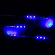 45cm 45 LEDs SMD LED Luz De Tira Flexible Carcasa 2835 Azul De Luz Para Coche, Moto, DC 12V (luz Azul)