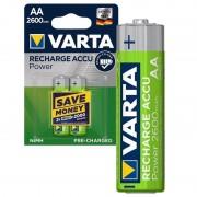 Pilhas AA Recarregáveis Varta Power Ready2Use 5716101402 - 2600mAh - 1x2