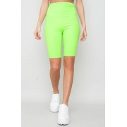 JFR High Waisted Cycling Shorts - Ember Neon
