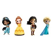 Set of 4 Pcs Wonder Woman from Avengers, Princess Belle from The Beauty and The Beast, Princess Elsa from Frozen, Princess Jasmine from Aladdin Action Figure