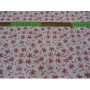 Material bumbac patchwork import SUA - 110cm lat - red flowers on white - pret 0,5m