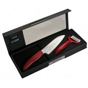 Keramický nůž Kyocera FK-140WH-RD + škrabka CP-10NRD