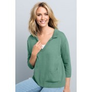 Womens Capture Collared Knit - Sage