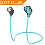 Bluetooth 4.0 Wireless Headphones In-Ear Earphones for iOS Android Smart Phones Bluetooth Devices (Blue)