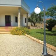 LIBERTI LAMP linea GARDEN Antares Lampione Per Esterno Giardino Antracite Con Sfera Globo D.25