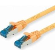 Cablu retea Value S-FTP cat 6A 2m Galben