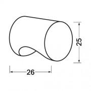 Hermeta Cilinderknop 25x26mm m4 zwart 3732-70
