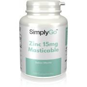 Simply Supplements Zinc 10mg Masticable - 120 Comprimidos