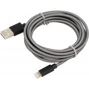 Ansmann USB-Lightning / Data- en Laadkabel Nylon 200cm