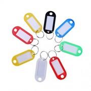 STOBOK Llavero de plástico Etiquetas de identificación de Equipaje Multicolores Etiquetas Clave Llavero para Mochila Maleta Trolley Paquete de 80