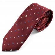 Tailor Toki Cravate bordeaux à pois