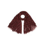 【60%OFF】ZANONE シルク混 プリント ストール レッド f ファッション > ファッション小物~~スカーフ