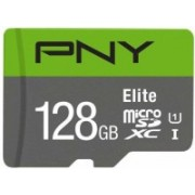 PNY Elite 128 GB MicroSDXC Class 10 100 MB/s Memory Card(With Adapter)