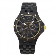 Bewell Chronograph Classic Bamboo Ebony Wood Watch
