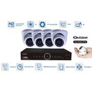 Kamerový systém mikro AHD 4x kamera 1080P s 15m IR a DVR