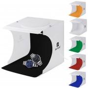 Puluz 20cm Plegable Portatil Luz Foto Lighting Studio Shooting Tienda Caja Kit Con 6 Colores De Fondo (negro, Blanco), Tamaño: 20cm X 20cm X 20cm
