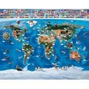 Kinderwereldkaart Posterbehang, 305 x 244 cm | Walltastic