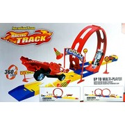 Racing Wheel Speedway Track Set Hotwheel Move Tracks Sport Car Educational Truck Toy for Boy Launch 360 degree Loop Score