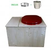 Toilette sèche - La Bac rouge framboise inox
