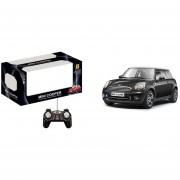 Auto a control remoto Mini cooper con baterias recargables, negro