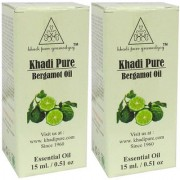Khadi Pure Herbal Bergamot Essential Oil - 15ml (Set of 2)