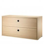 String Drawers Cabinet Kast Eiken