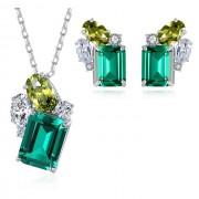 Set bijuterii argint 925 Esmeralda