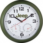Jeep Weather Station Wall Clock