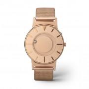 Ceas de mână tactil unisex EONE Bradley cu brățară roz-aurie, din plasă de oțel inox - DISPONIBIL LA COMANDĂ