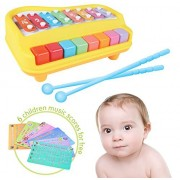 2-in-1 Xylophone & Piano for Kids with Sheets of Nursery Rhymes and Drums - Musical Instrument Toy For Toddlers and Kids by Liberty Imports