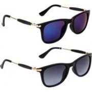 Amanya Wayfarer Sunglasses(Blue, Grey)
