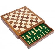 """SouvNear 12"""" Inch Wooden Chess Set Game with Magnetic Chess Pieces and a Flat Chess Board with Stora"""
