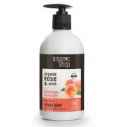 Sapun lichid nutritiv cu piersica si trandafir Rose Peach, 500 ml - Organic Shop