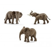Schleich African Elephant Toy Figurines Set - Male, Female, and Calf by SuePerior Living