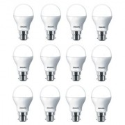 Philips Ace Saver 9W LED Bulb 6500K (Cool Day Light) - Pack of 12
