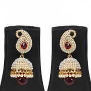 Jewels Gehna Alloy Party Wear Traditional Stone Latest Designer Jhumki Earring Set For Women Girls