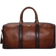 Bare Skin VEG TANNED BURNISHED LEATHER DUFFLE/GYM BAG 20 inch/50 cm Travel Duffel Bag(Brown)