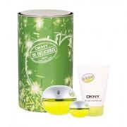 DKNY DKNY Be Delicious confezione regalo Eau de Parfum 100 ml + Eau de Parfum 7 ml + lozione per il corpo 100 ml donna