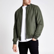 River Island Mens Khaki green bomber jacket (S)