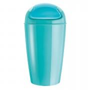 KOZIOL Kancelářský odpadkový koš DEL XL, 30 l - barva tyrkysová, KOZIOL