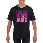 Bellatio Decorations Verjaardags t-shirt voor meisjes roze XS (110-116) - Feestshirts