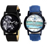 Spanish Special Colour And White Lion Men's Combo Quartz Watch By Google Hub