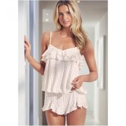 Ruffle Cami Tap Short Set Holiday Gift Guide - Multi/White