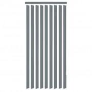 vidaXL Вертикална щора, плат 150x180 см, сива