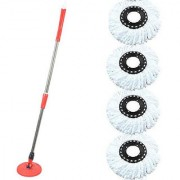 Universal Home Cleaning Spin mop-red With 4 Refill