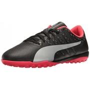PUMA Men's Evopower Vigor 4 TT Soccer Shoe, Puma Black/Puma Silver/Quiet Shade/Bright Plasma, 4. 5 M US