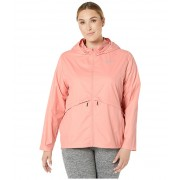 Nike Essential Jacket Hood (Size 1X-3X) Pink QuartzReflective Silver