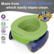 Liner reutilizabil de silicon pentru olita portabila 2 in 1 Potette Plus - culoare verde